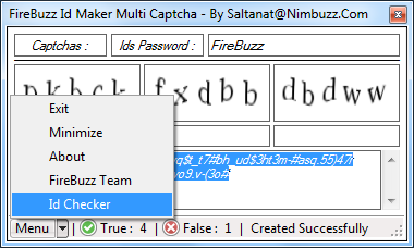 FireBuzz Id Maker Multi Captcha With Id Checker V1.0 2014_05_03_18h38_16
