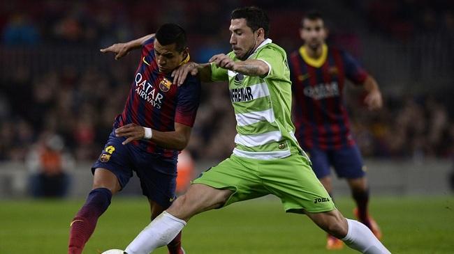 توقف بارسلونا مقابل ختافه در دقیقه ۹۰