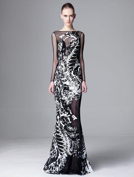 لباس شب 2014 بلند -2