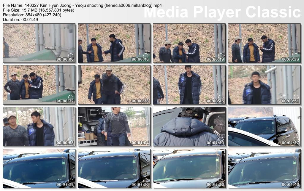 Fancams_Kim Hyun Joong Shooting In Yeoju & Yongin - 14.03.27 & 14.03.29
