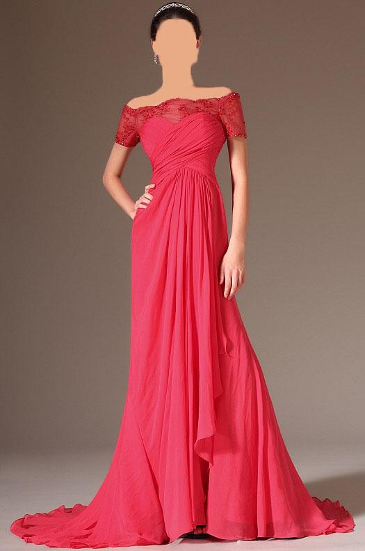 مدل هاي جديد لباس شب قرمز 2014