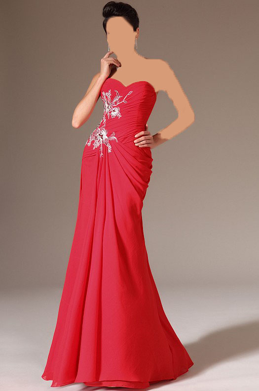مدل لباس شب قرمز 2014