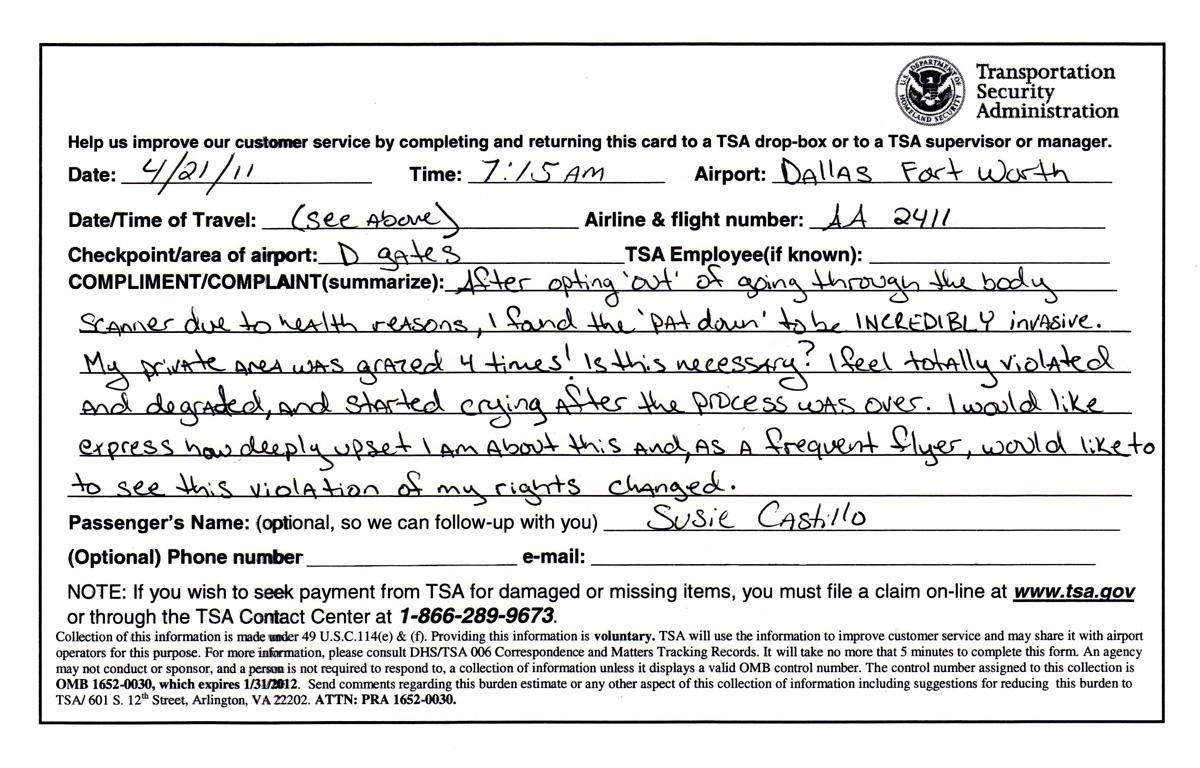 My TSA Pat Down Experience