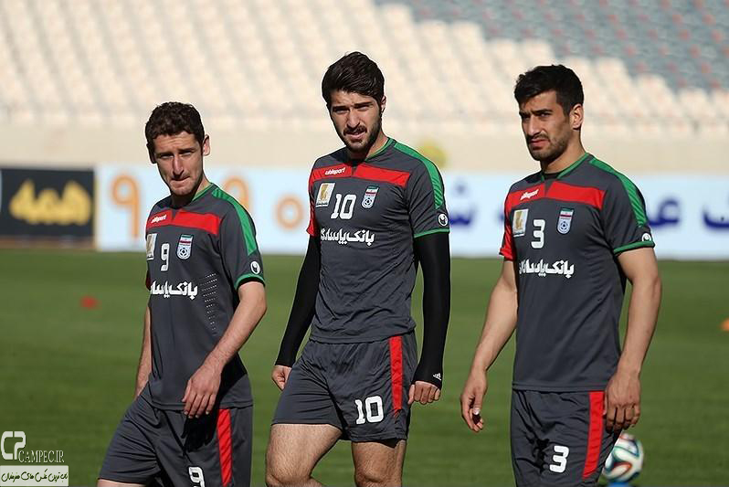 عکس های تمرین تیم ملی فوتبال ایران