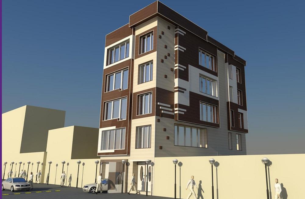 ساختمان مسکونی 1 - نماسازان امروزنوع محصول استفاده شده : ساندویچ پانل دکوراتیو NW1 و NW4 و NP6 تیپ