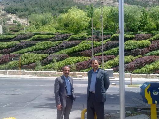 خیابان سعدی شیراز به اتفاق استاد رضازاده