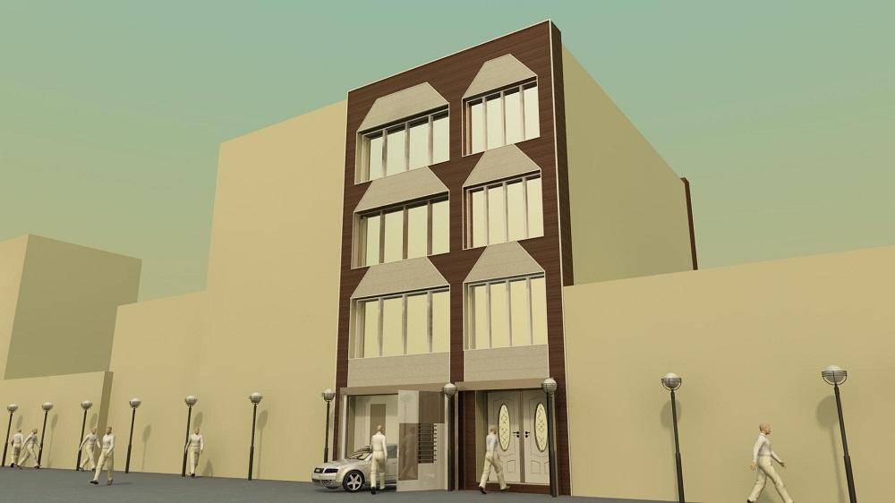 ساختمان مسکونی 3 - نماسازان امروزمحصول مورد استفاده : ساندویچ پانل دکوراتیو NW1 و NW4 و NP6 تیپ 4