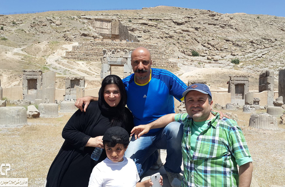 امیر جعفری و همسرش ریما رامین و پسرشان آیین و علی صالحی