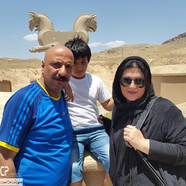 امیر جعفری و همسرش ریما رامین و پسرشان آیین