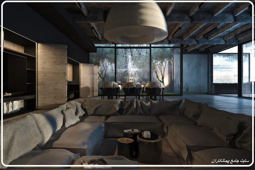 خانه ای با معماری ژاپنی در دریای سیاه Black House معماری طراحی هنر تکنولوژی