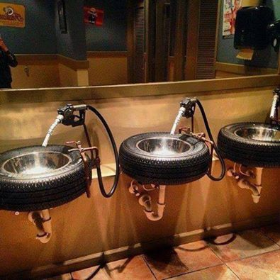 دستشویی یا پمپ بنزین