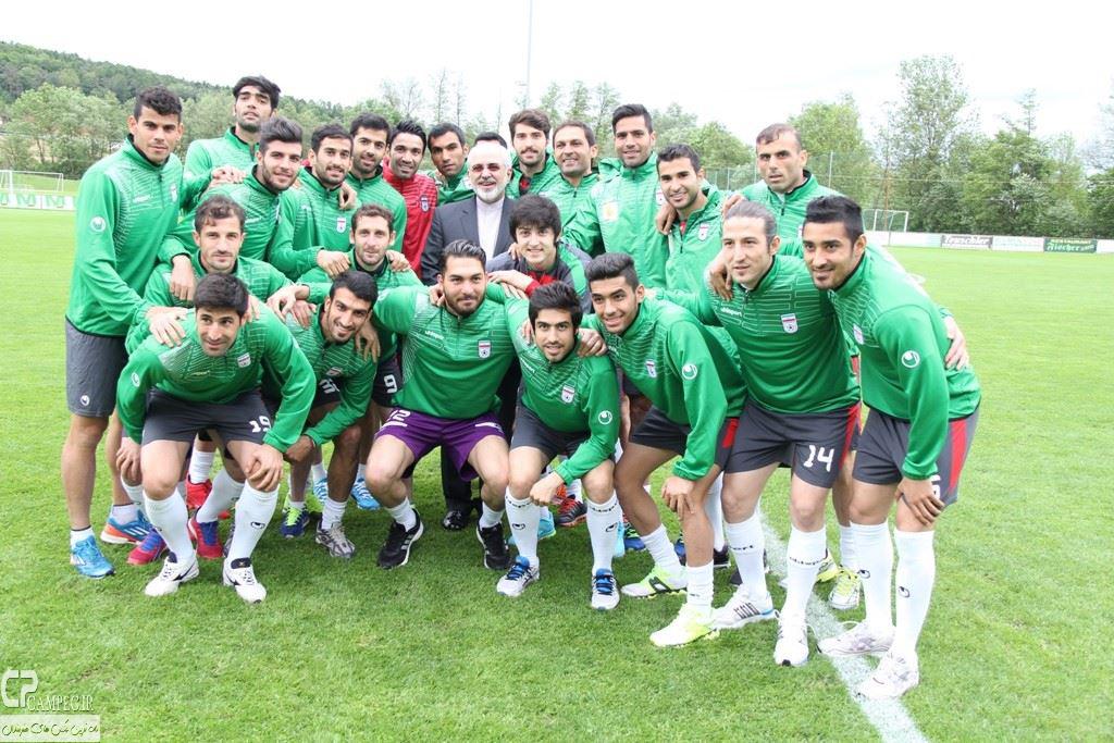 عکس های تمرین تیم ملی فوتبال در اتریش با حضور وزیر امور خارجه