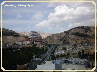 نمایی از هتل بزرگ شیراز از بام هتل رویال