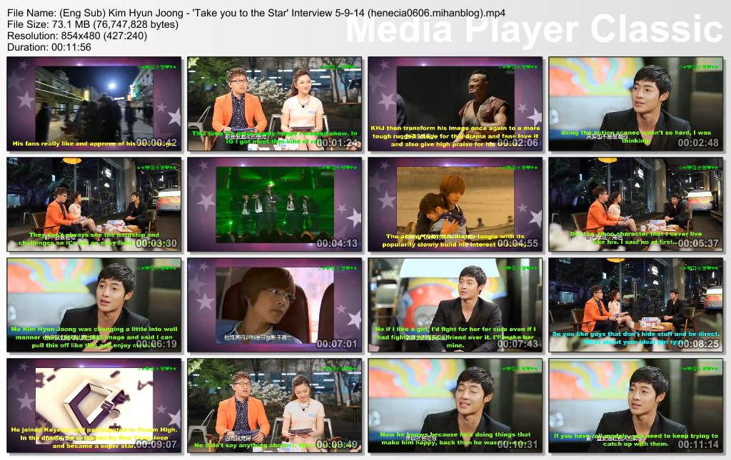 Eng Sub_Kim Hyun Joong - Take you to the Star Interview 5-9-14