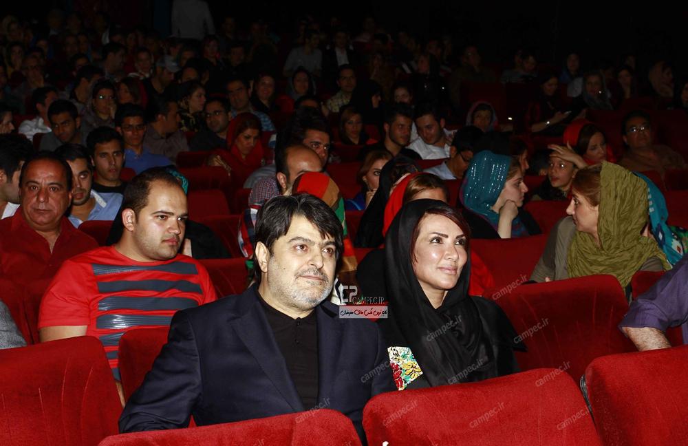 مهشید افشار زاده و همسرش