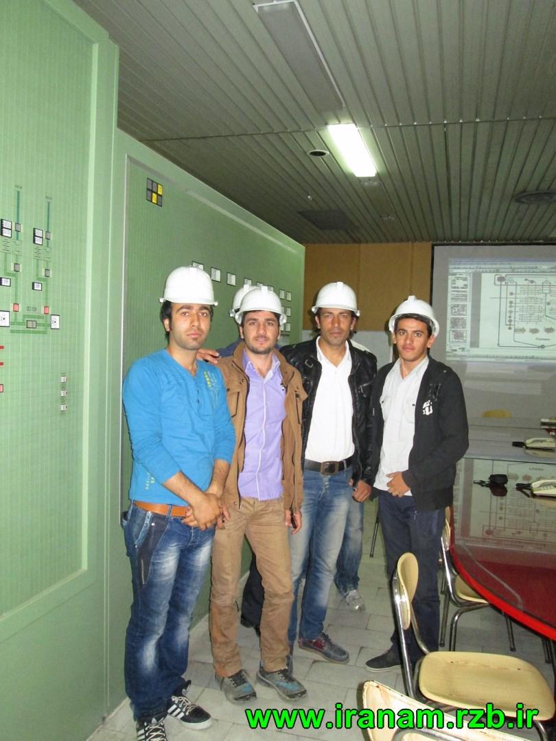 بازدید دانشگاه آزاد واحد کنگاور از نیروگاه شهید مفتح همدان