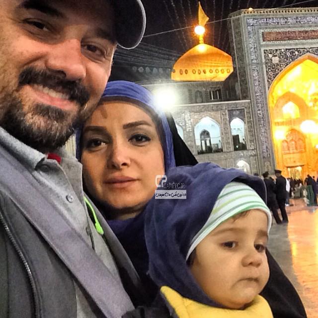 عکس های جدید برزو ارجمند به همراه همسر و پسرش