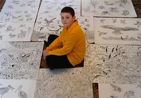 مطالب داغ: تصاویر دیدنی طراحیهای هنرمندانه پسر ۱۱ ساله