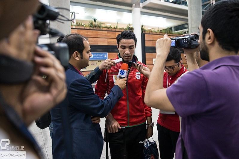 عکس های بازگشت تیم ملی فوتبال ایران از اردوی اتریش