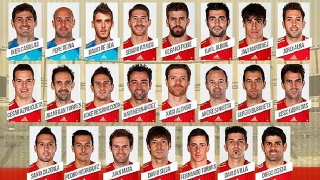 فهرست ۲۳ نفره تیم ملی اسپانیا برای جام جهانی اعلام شد