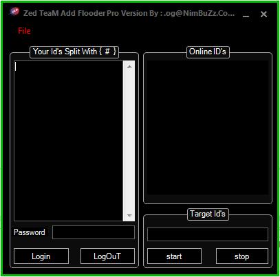 Zed TeaM Add Flooder Pro Ver  Sc1