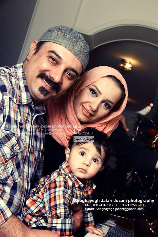 جدید ترین عکس های برزو ارجمند به همراه همسر و فرزندش