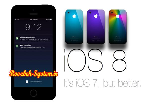 بررسی و تمام مشخصات و ویژگیهای سیستم عامل جدید iOS 8