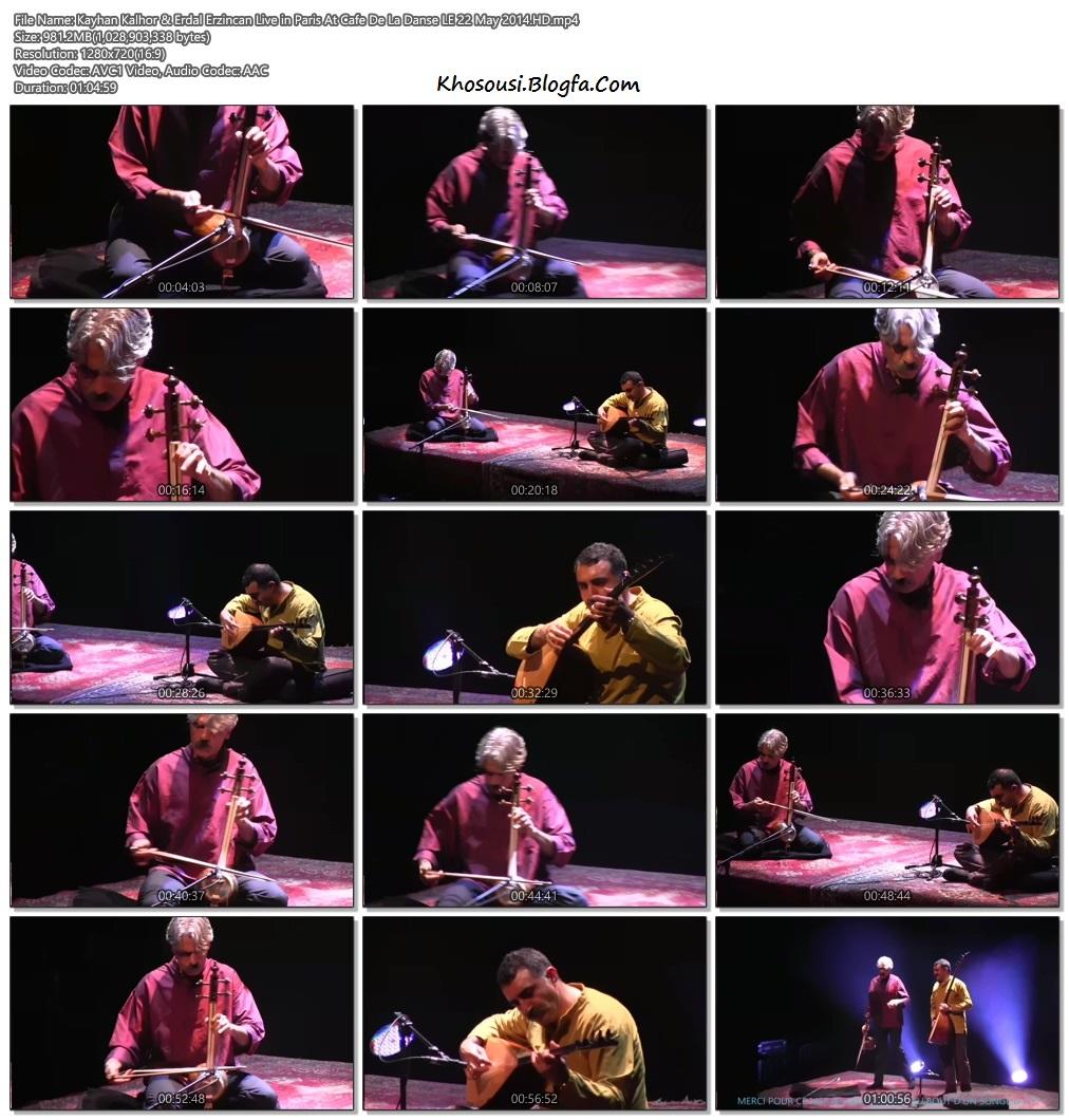 کنسرت تصویری در کافه دِ لا دنسه پاریس –کیهان کلهرو اردل ارزنجان – ۲۰۱۴ میلادی