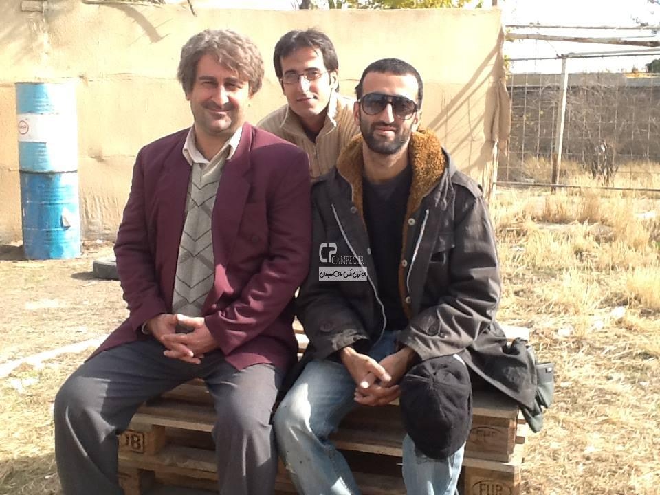 مهران احمدی در پشت صحنه سریال آوای باران