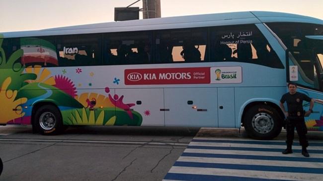 اتوبوس تیم ملی فوتبال ایران در جام جهانی 2014 برزیل