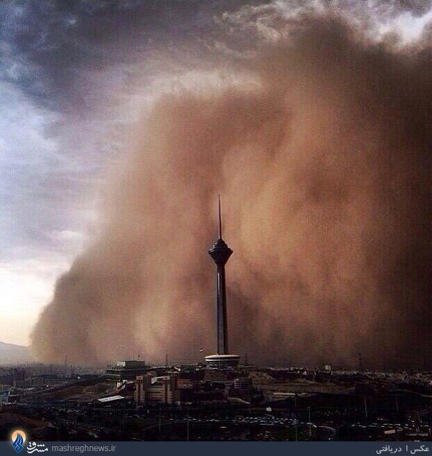 طوفان ویرانگر در تهران