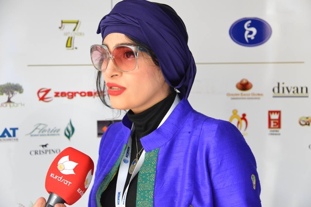 عکس های اندیشه فولادوند در جشنواره فیلم اربیل