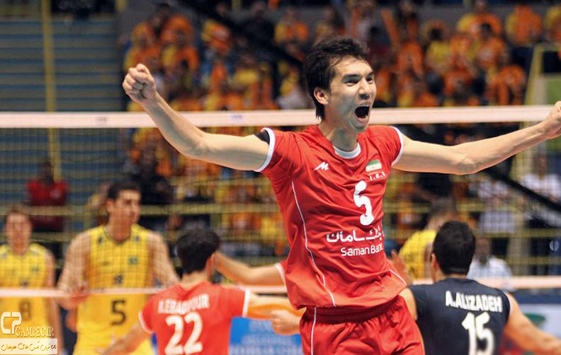 عکس های پیروزی تیم والیبال ایران برابر برزیل