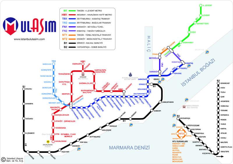 نقشه استانبول