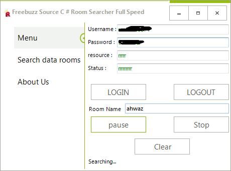 Freebuzz TeaM Source C # Room Searcher Full Speed By Rasol Dcs32323d