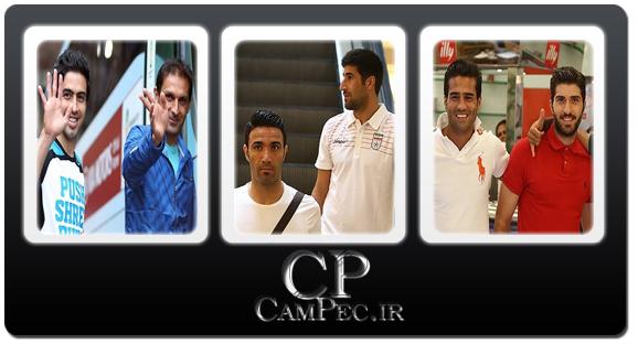 عکس های بازیکنان تیم ملی فوتبال ایران در فروشگاه های شهر سائوپائولو