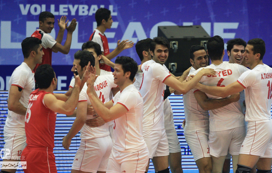 عکس های دیدار والیبال ایران و برزیل در تهران