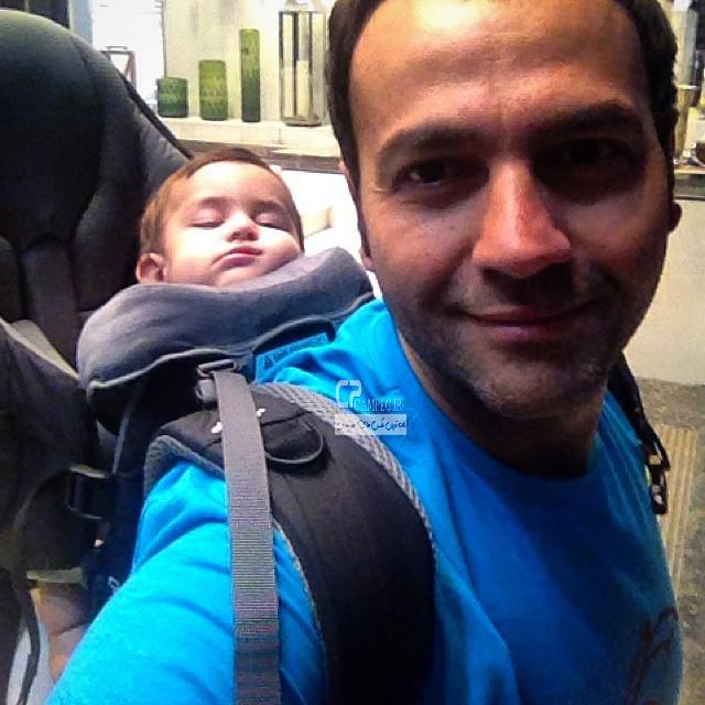 آرش مجیدی و دخترش میشا