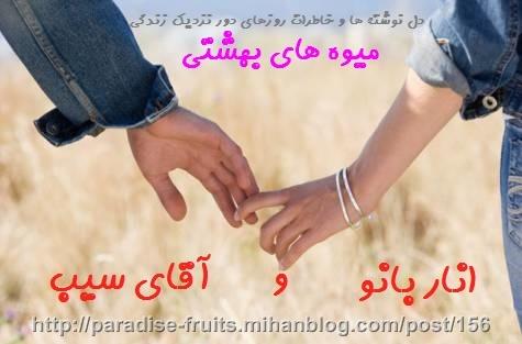 عاشقانه های انار بانو و آقای سیب - میوه های بهشتی
