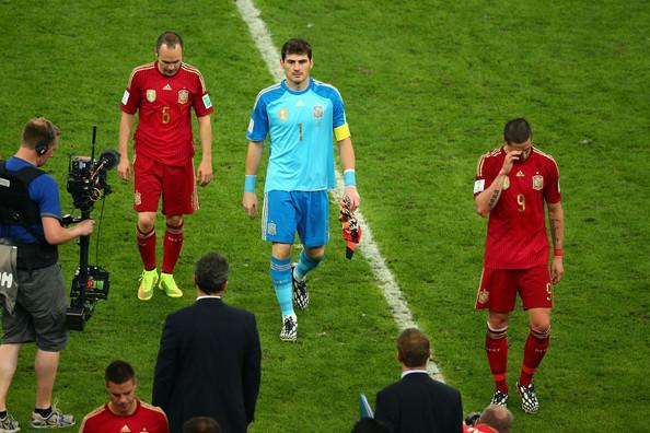 وداع تلخ و دراماتیک تیم ملی اسپانیا از جام جهانی 2014 برزیل