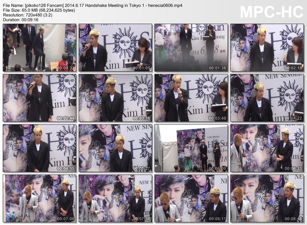 [pikoko128 Fancam] Kim Hyun Joong HOT SUN Handshake Meeting in Tokyo [14.06.17]