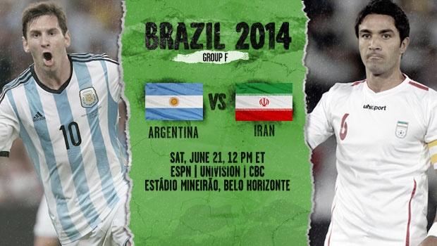 تیم ملی ایران مقابل ارژانتین