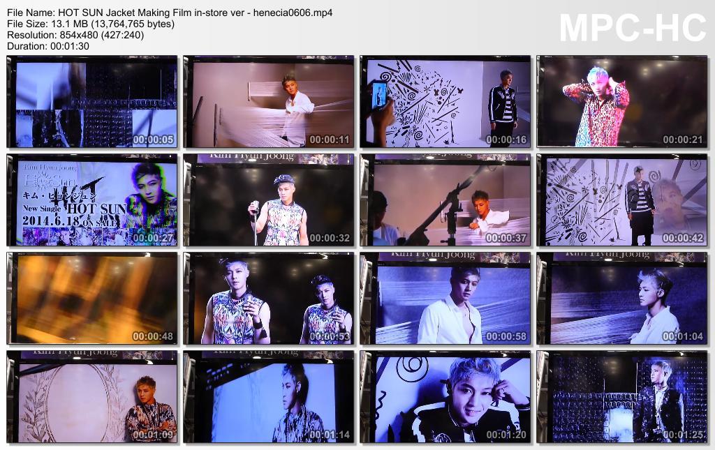 KIM HYUN JOONG – HOT SUN – MV CLIPS Short version