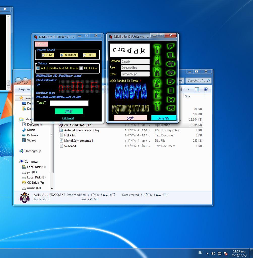 Nimbuzz id Maker auto Captcha & Auto add FlooD & id BloCker Screen
