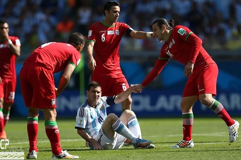عکس های دیدار تیمهای فوتبال ایران و آرژانتین