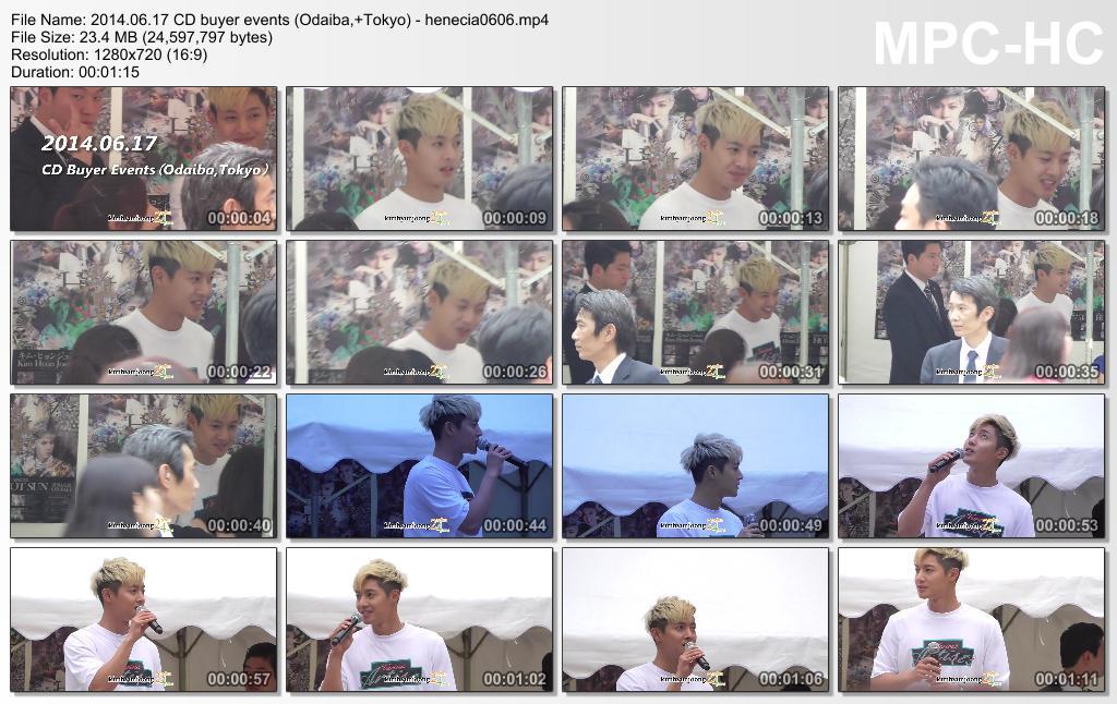 "Fancam_KIM HYUN JOONG ""HotSun"" Release + Handshake Event @Odaiba,Japan"