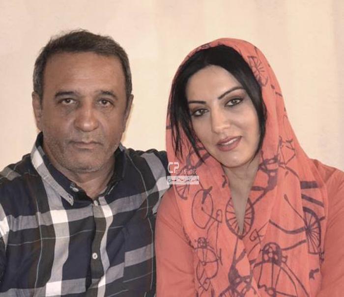 حمیرا ریاضی و همسرش علیرضا اسیوند