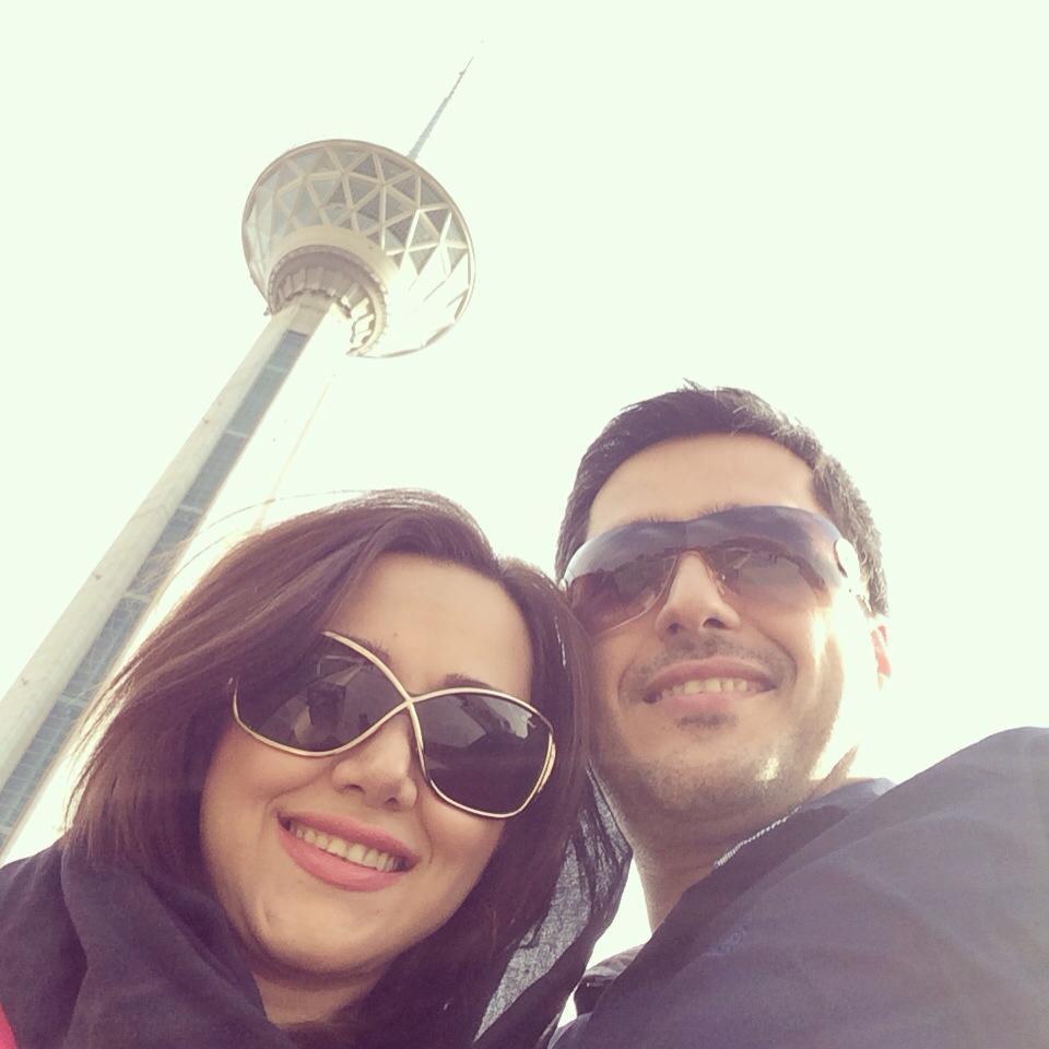 ناهید سیف الله پور و همسرش