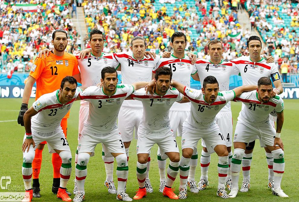 بازیکنان تیم ملی در بازی برابر بوسنی