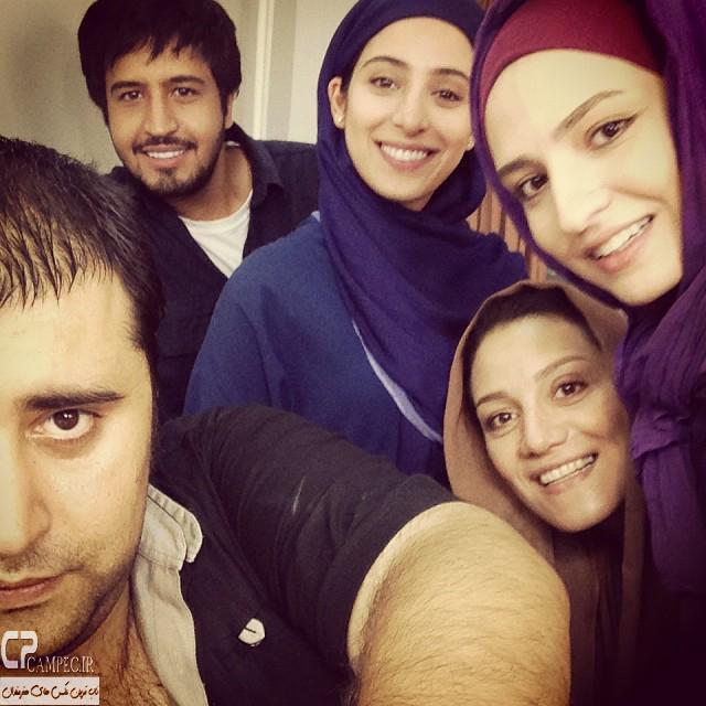 گلاره عباسی،آناهیتا افشار،شبنم مقدمی و مهرداد صدیقیان در پشت صحنه سریال مدینه